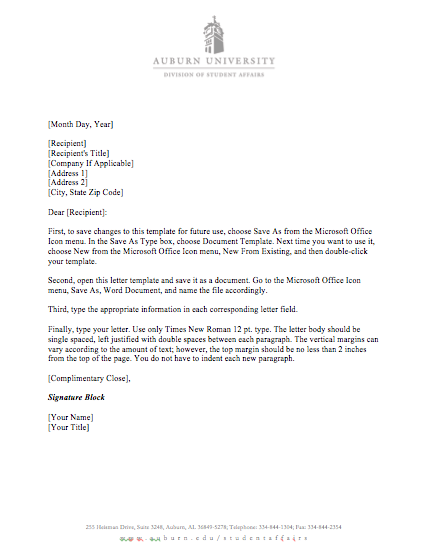 Templates division of student affairs download the letter template pronofoot35fo Images